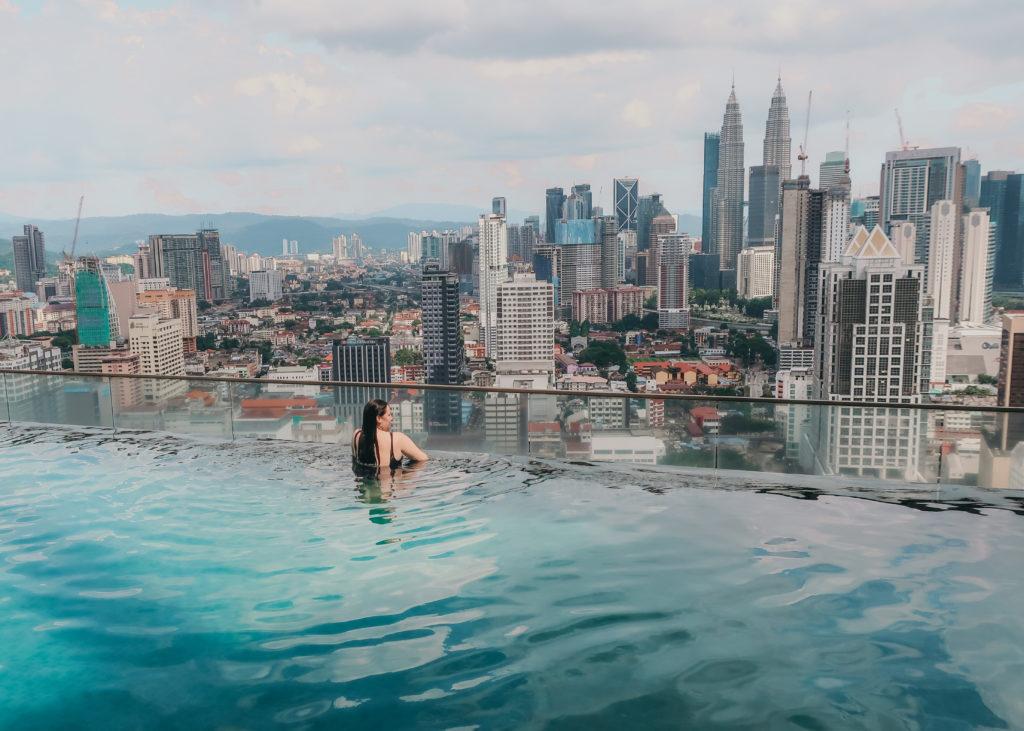 Sky Pool Hostel infinity pool