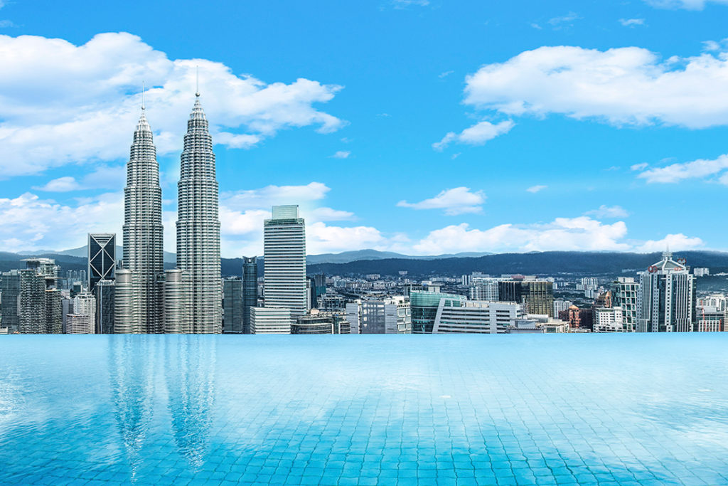 The Face Suites pool in Kuala Lumpur